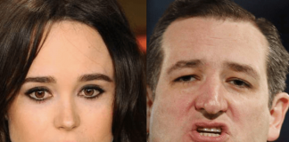 ellen page takes on ted cruz 2015 gossip