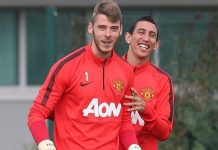 lvg with angel di maria and david de gea soccer 2015