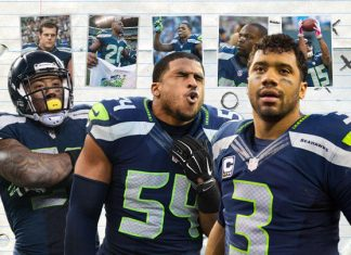 russell wilson bobby wagner contracts with seattle seahawks nfl 2015 images