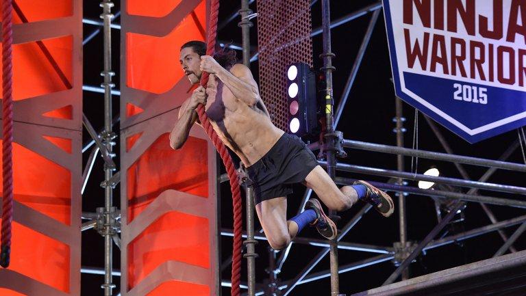 american nina warrior final two winners isaac caldiero with geoff britten 2015