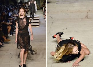 fashion week tumble candice swanepoel falls on givenchy runway gossip