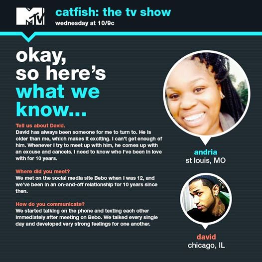 catfish 415 andria david reveal 2015 images mtv