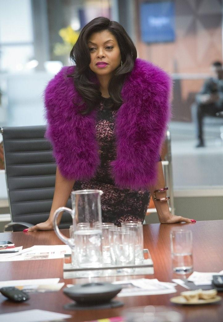 cookie lyon empire purple fur fashion 2015