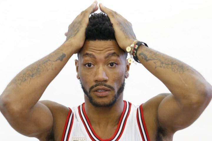 derrick rose face injury nba 2015