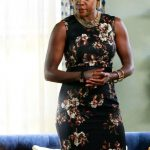htgawm annalise floral dress 2015