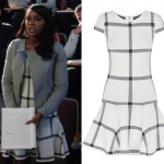 htgawm michaela black white drop waist dress 2015