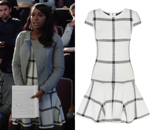 htgawm michaela black white drop waist dress 2015