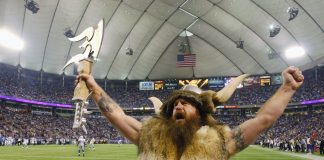 joe juranitch minnesota vikings ragnar mascot missing in action 2015 nfl