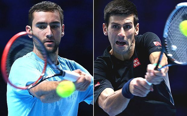 us open djokovic vs cilic federer 2015 tennis images