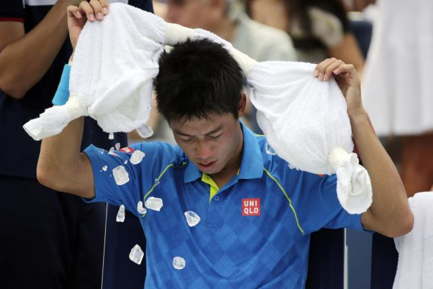 us open tennis first round report card kei nishikori 2015 images