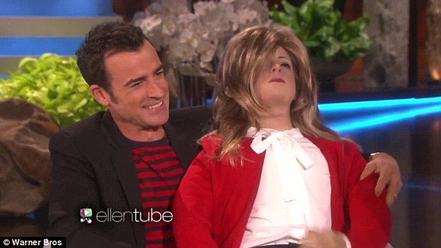 justin theroux opens up for ellen 2015 gossip
