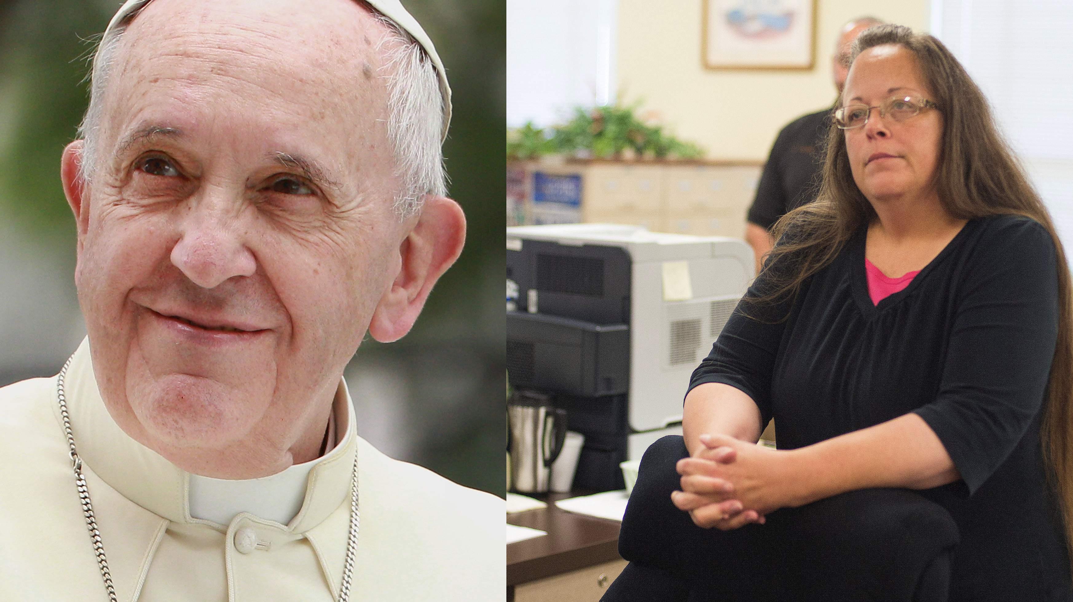 kim davis pope franics