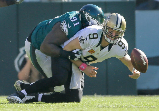 nfl week 4 review eagles vs saints drew brees tackled 2015 images