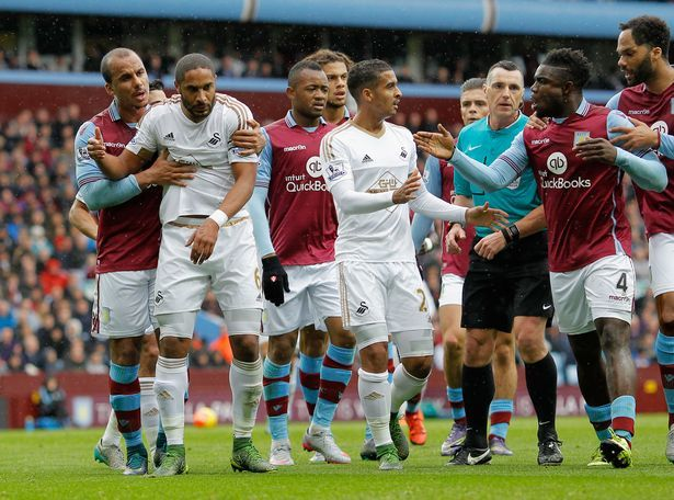 premier league week 10 soccer 2015 images swansea city vs villa park