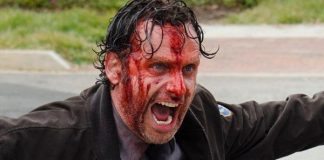 walking dead shocking moments rick grimes bloody 2015
