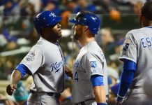 kansas city royals one away from winning world series 2015 mlb images