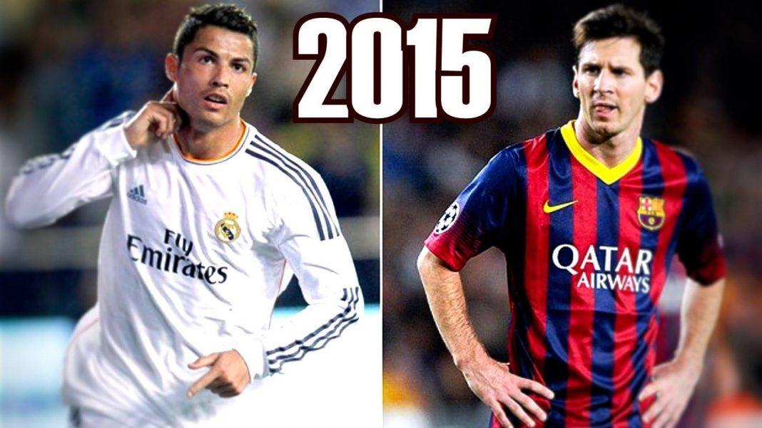 lionel messi vs cristiano ronaldo 2015 soccer images