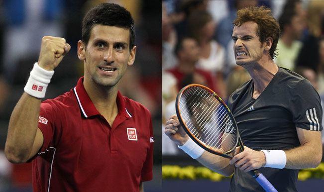 novak djokovic takes on andy murray paris masters 2015 tennis