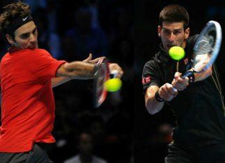 roger federer novak djokovic in semifinals atp 2015 tennis images