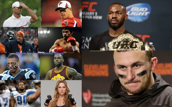 10 Most Disappointing Athletes of 2015 collage images