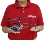 2015 Hottest Kids RC Toys: Lutema 2.4 Heligram Flight Simulator R/C Helicopter w/LED SkyText Technology