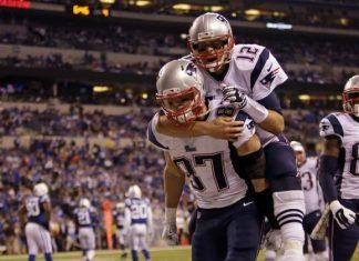 New England Patriots Tom Brady Rob Gronkowski MIA 2015 NFL Images