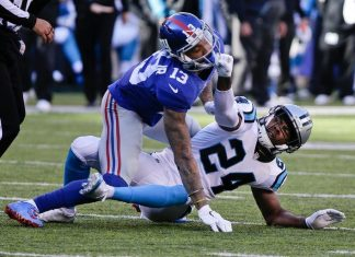 Odell Beckham Jr Josh Norman Both Need Pacifiers 2015 images
