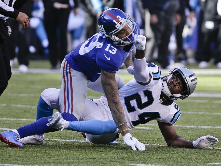 Odell Beckham Villainized for Bringing Hostility to a Football Game 2015 images