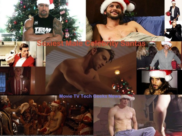 Top 10 Sexiest Male Celebrity Santas for 2015 Holiday Season images collage