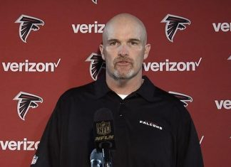 atlanta falcons head coach Dan Quinn Sounding Worn Down 2015 images