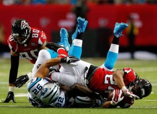 carolina panthers sore in first loss 2015 nfl images