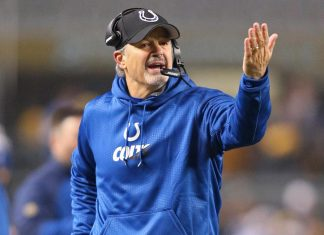 chuch pagano unconcerned about job with indianapolis colts 2015 nfl images