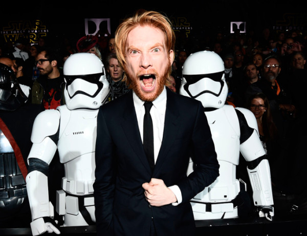 domhnall-gleeson star wars premiere force awakens 2015