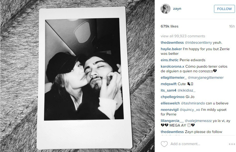 gigi hadid with zayn malik for joe jonas 2015 gossip