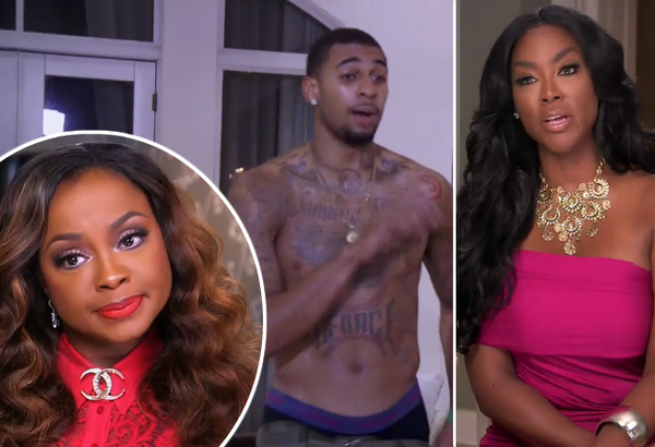 glen rice jr violence against kenya moore rhoa 2015 images