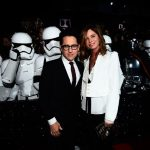 j-j-abrams-and-katie-mcgrath star wars premiere force awakens 2015