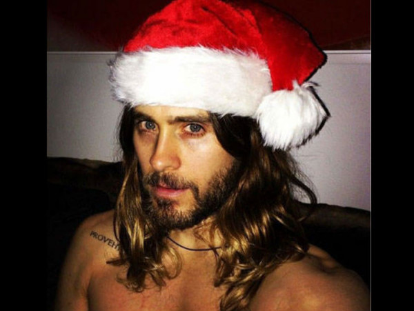 jared leto sexy male santa celebrities 2015