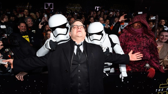 patton oswalt star wars premiere force awakens 2015