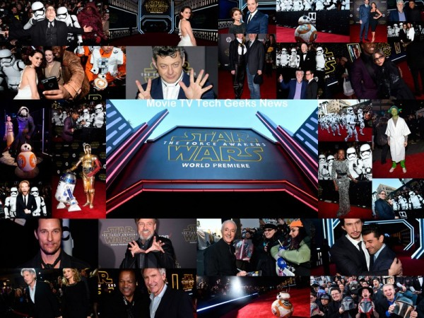 star wars the force awakens world premiere collage 2015