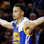 Steph Curry Hurting Basketball for Warriors