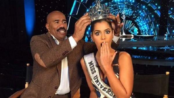 Steve Harvey Screw Up Crowns Wrong Miss Universe 2015 gossip