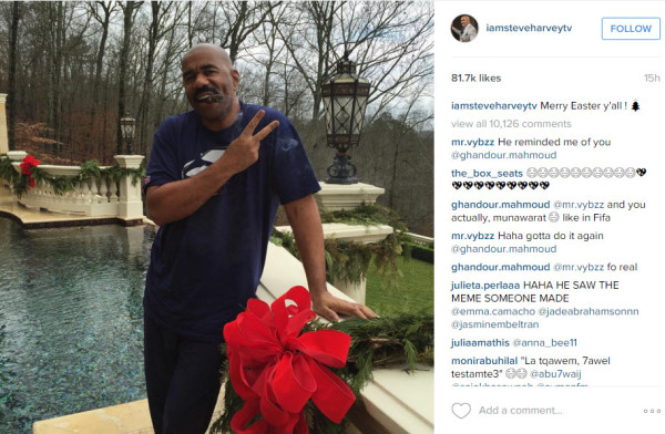 steve harvey embraces miss universe flub 2015 gossip