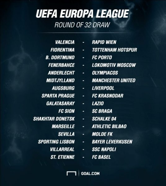 uefa europa league 32 draw 2015 soccer
