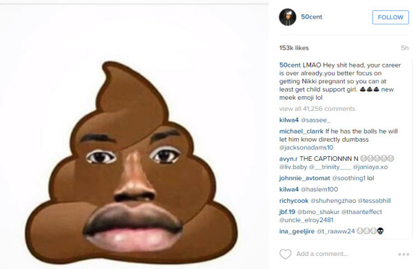 50 cent fight beef with meek mill 2016 gossip