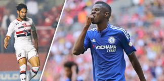 Alexandre Pato in Ramires out at Chelsea 2016 soccer images