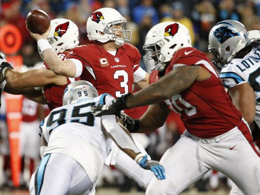 Carson Palmers Cardinals choke up on Cam Newtons Patners 2016 nfl images