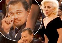 leonardo dicaprio golden lady gaga moment stirs up 2016 gossip