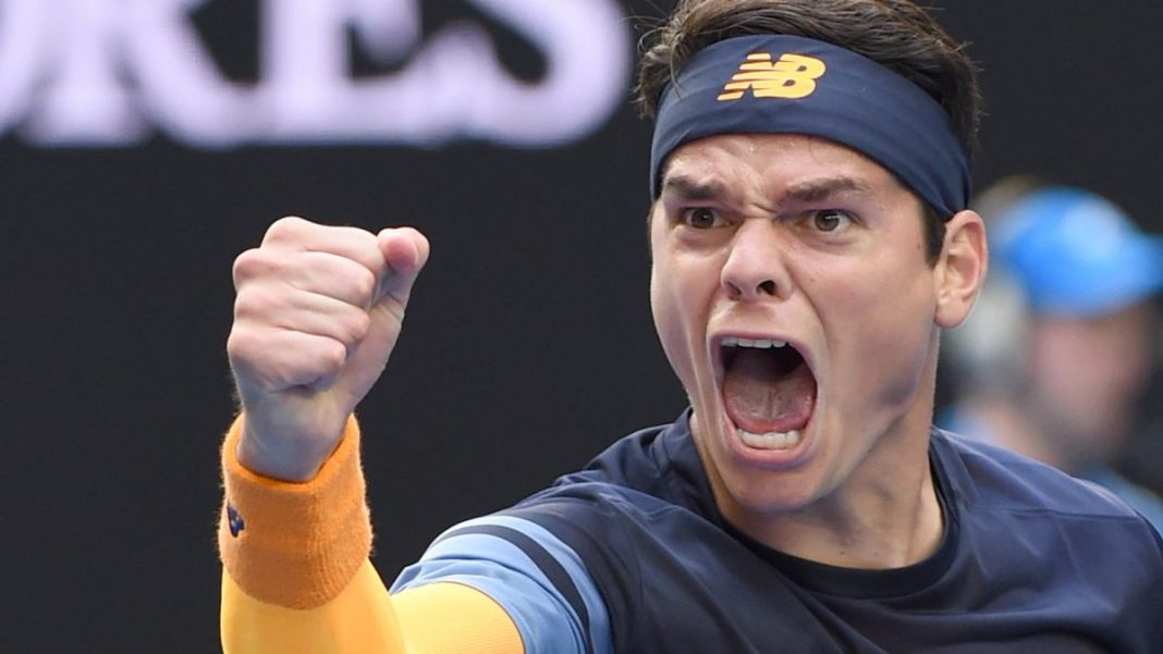 Milos Raonic Golden Opportunity 2016 Australian Open tennis images