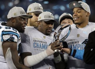 Thomas Davis Plans to Play in Super Bowl 50 Despite Broken Arm 2016 images