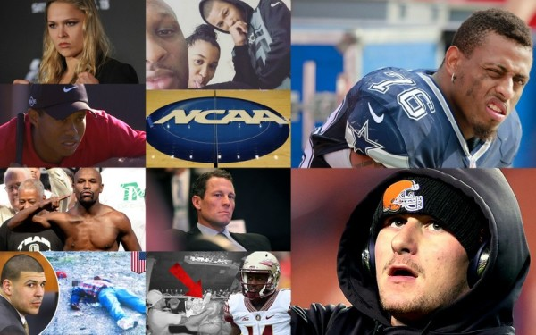 Top 10 Worst Sports Role Models of 2015 image collage